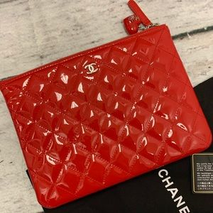Large Chanel Quilted Pouch New